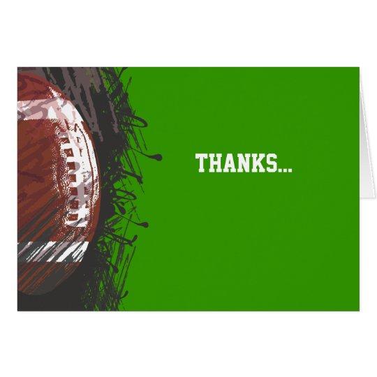 Football Splatter Bar Bat Mitzvah Thank You Card