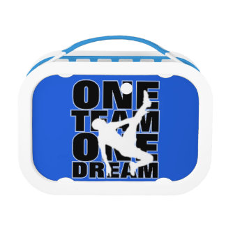 Football Sport Terminology Typography Slogan Text Lunch Boxes