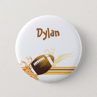Football Sports Ball Game Personalized Name 2 Inch Round Button