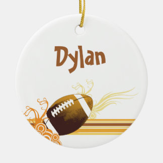 Football Sports Ball Game Personalized Name Ceramic Ornament