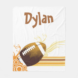 Football Sports Ball Game Personalized Name Fleece Blanket