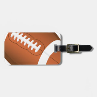 Football Sports Ball Team Game Playing Stars Coach Luggage Tag