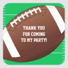 Football Sports Birthday Party Favour Square Sticker