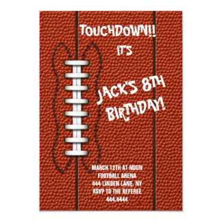 Football Sports Birthday Party Invitation
