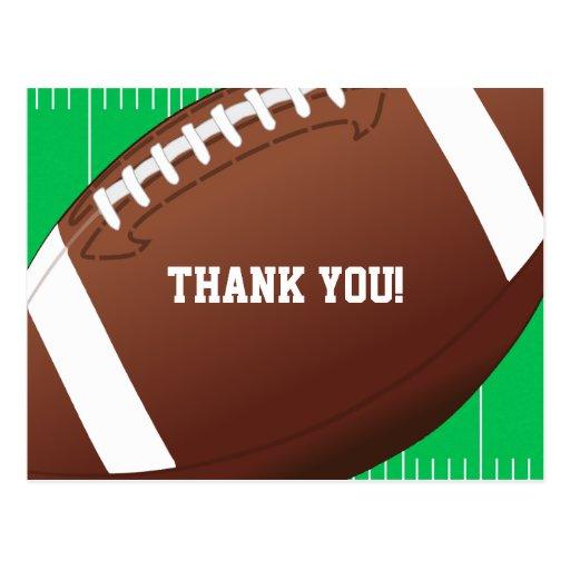 Football Sports Birthday Thank You Postcard Zazzle
