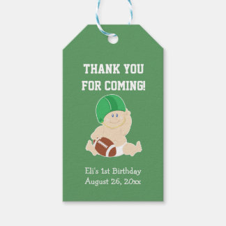Football Sports Green Gift Tag Boy's Birthday Pack Of Gift Tags