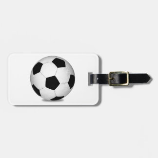 Football sports play games outdoor fun happy kids luggage tag