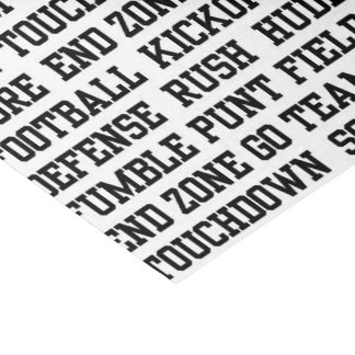 Football sports word art party tissue tissue paper