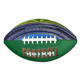 Football Stadium with Typography