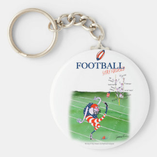 Football stay focused, tony fernandes keychain