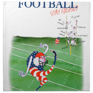 Football stay focused, tony fernandes napkin