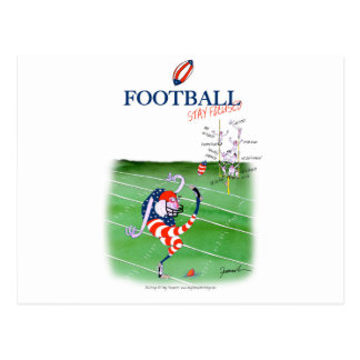 Football stay focused, tony fernandes postcard