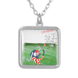 Football stay focused, tony fernandes silver plated necklace