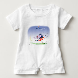Football steamroller, tony fernandes baby romper