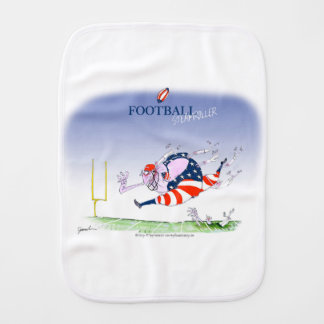Football steamroller, tony fernandes burp cloth