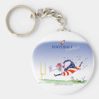 Football steamroller, tony fernandes keychain