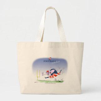 Football steamroller, tony fernandes large tote bag