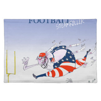 Football steamroller, tony fernandes placemat