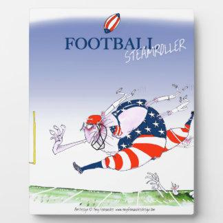Football steamroller, tony fernandes plaque