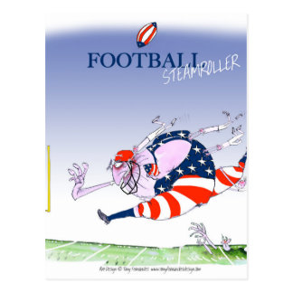 Football steamroller, tony fernandes postcard
