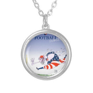 Football steamroller, tony fernandes silver plated necklace
