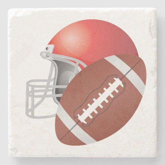 FOOTBALL STONE BEVERAGE COASTER