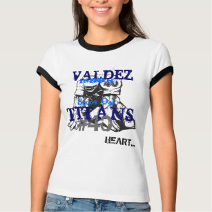 football, Stone Oak, TITANS, #40, HEART..., VAL... T-Shirt