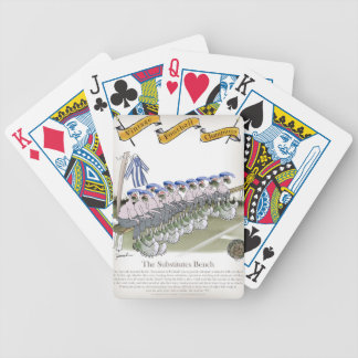 football substitutes blue white stripes bicycle playing cards