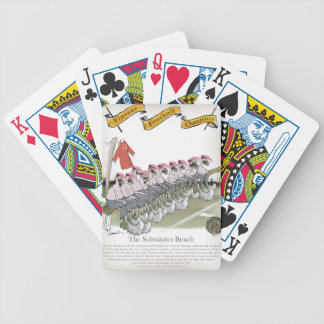 football-substitutes red teams bicycle playing cards