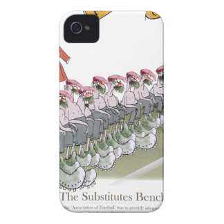 football-substitutes red teams iPhone 4 cover