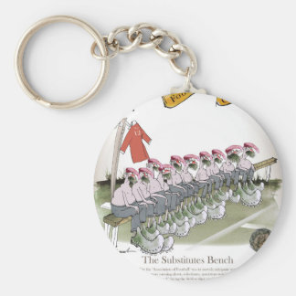football-substitutes red teams keychain