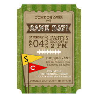 Football | Super Game Day Customizable Team Flags Card