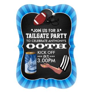 "Football Tailgate Birthday Party Retro Chalkboard 5"" X 7"" Invitation Card"