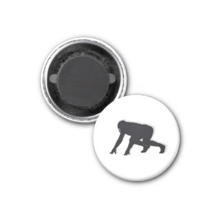 Football TD TAG Defensive Tackle - White-R 1 Inch Round Magnet