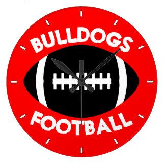 Football Team Custom Text and Color Wall Clock
