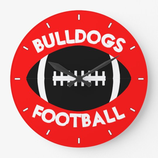 Football Team Custom Text and Colour Wall Clock