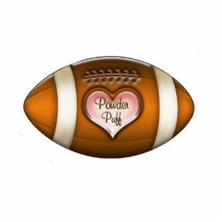 Football Team Powder Puff Ornament Photo Sculpture Ornament