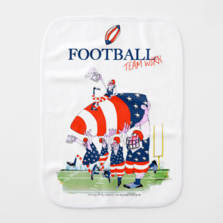 Football team work, tony fernandes burp cloth
