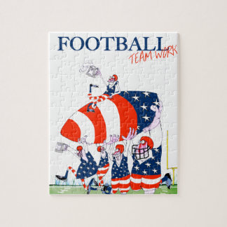 Football team work, tony fernandes jigsaw puzzle