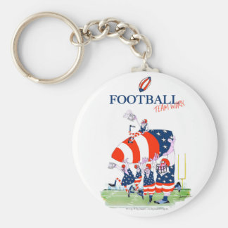Football team work, tony fernandes keychain