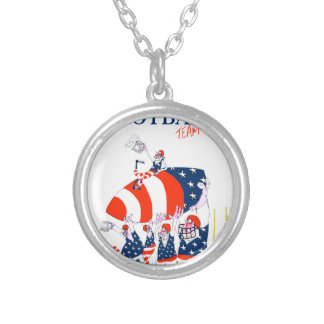Football team work, tony fernandes silver plated necklace