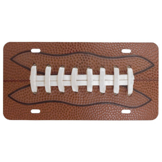 Football Theme License Plate