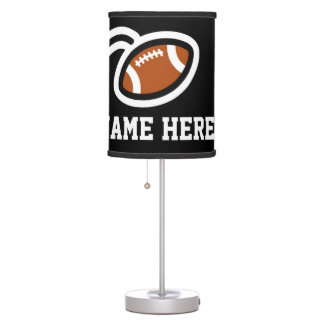 Football theme table lamp design   Personalizable