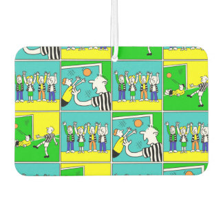 Football Theme with cartoon players and fans Air Freshener