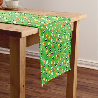 Football Theme with Gold Shirts Short Table Runner