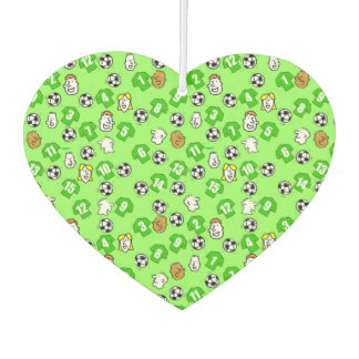Football Theme with Green Shirts Car Air Freshener