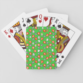 Football Theme with Red Shirts Playing Cards