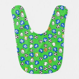Football Theme with Shirts in Blue Bib