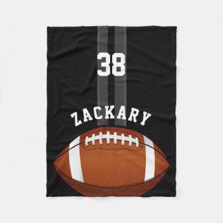 Football Themed Custom Name Fleece Blanket