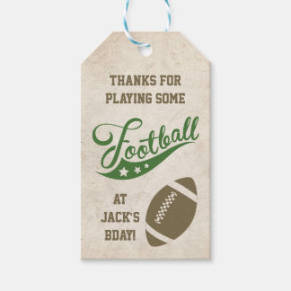 Football Themed Favour Tags Pack Of Gift Tags